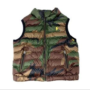 Polo by Ralph Lauren Toddler Camo Quilted Vest 2T